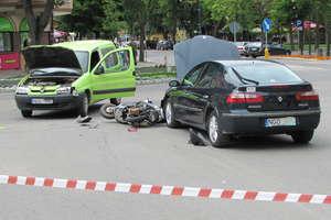 Zdarzenie drogowe w centrum Gołdapi