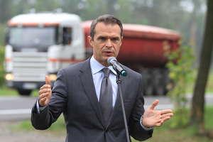 """Nowak z wizytą na S7. Obwodnica Olsztyna? """"Pracujemy nad tym"""""""