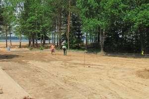 Trwa modernizacja plaży gminnej w Kruklankach