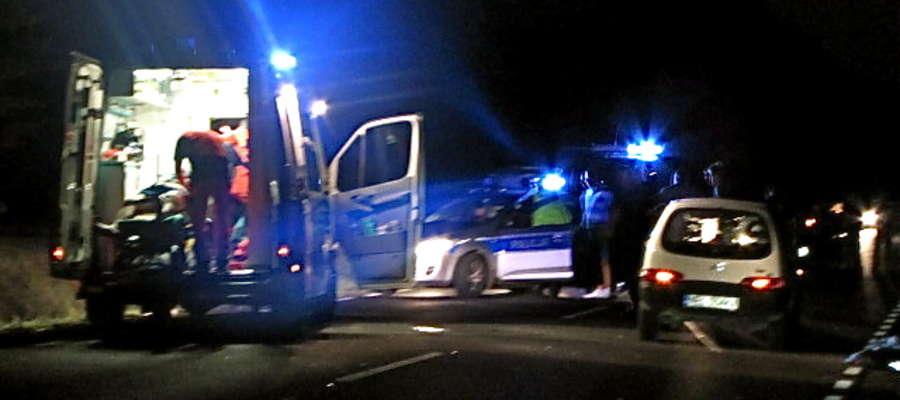 Do wypadku doszło na trasie Orzysz-Pisz w okolicach miejscowości Kociołek Szlachecki