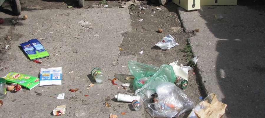 Na osiedlowych śmietnikach w Gołdapi kontenery jeszcze stoją...
