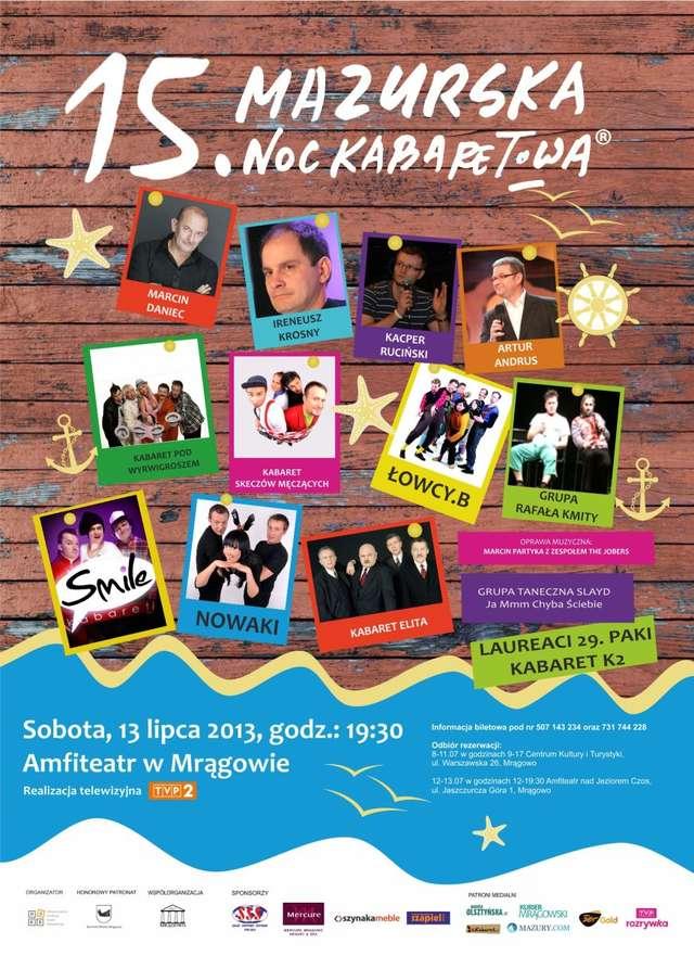 Gwiazdy kabaretu na 15. Mazurskiej Nocy Kabaretowej - full image