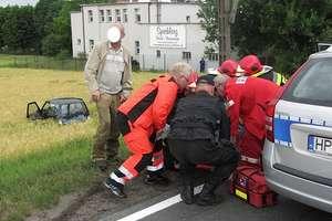 Zderzenie dwóch aut na obwodnicy Lubawy