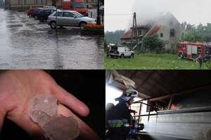 Gwałtowne burze nad Warmią i Mazurami. Pożary, grad i podtopienia