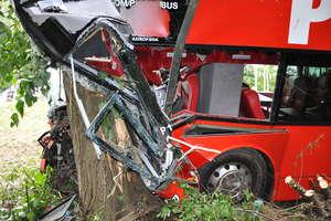 Wypadek autobusu Warszawa - Ostróda. 13 osób rannych