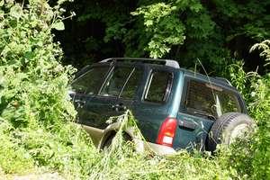 Suzuki zatrzymało się na drzewie