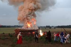 Krzyżacki najazd z łuną pożarów na Rybno