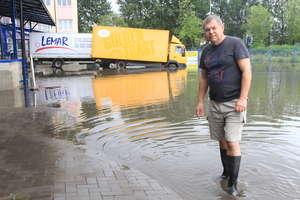 Straty po ulewach. Ucierpiały olsztyńskie firmy