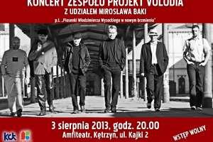 Koncert zespołuProjekt Volodia z udziałem Mirosława Baki