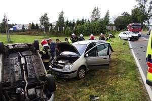 Groźne zderzenie trzech aut