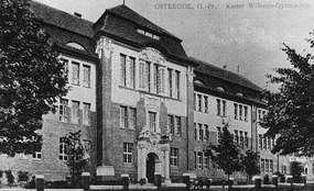 Budynek liceum ogólnokształcącego z 1907 roku w Ostródzie