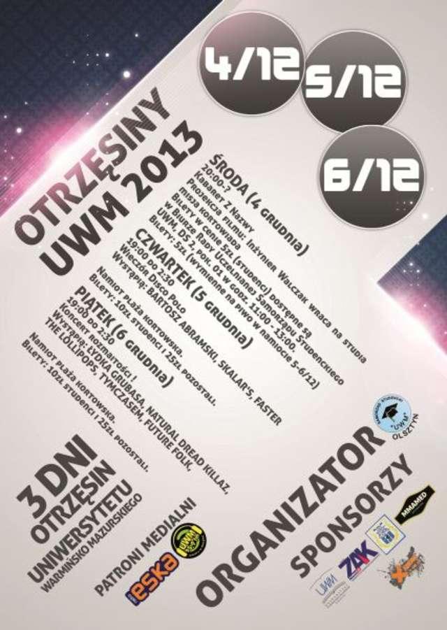 Znamy program Otrzęsin Uniwersyteckich! - full image