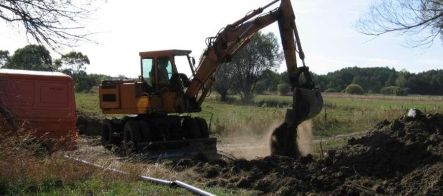 Władze gminy chciałyby dokończyć budowę sieci wodociągowej