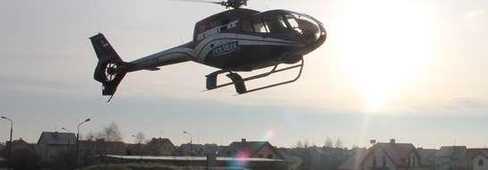 Pierwszy helikopter wypróbował nowe lądowisko
