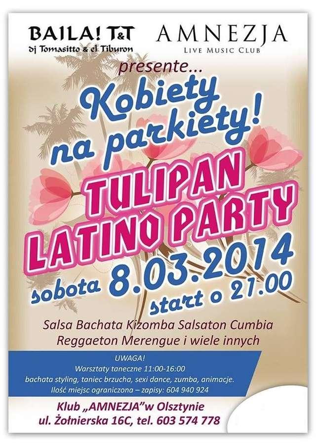Tulipan latino party. Kobiety na parkiety! - full image