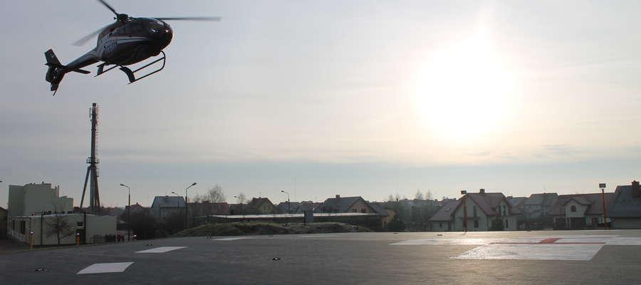 Do minionego poniedziałku na przy makowskim szpitalu wylądowały ledwie 3 helikoptery medyczne