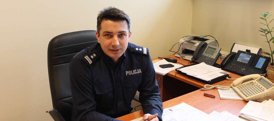Mł. insp. Tomasz Łysiak, nowy szef makowskiej policji