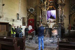 Pożar w kościele św. Mikołaja w Grzędzie
