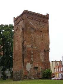 Wieża bramna zamku biskupiego