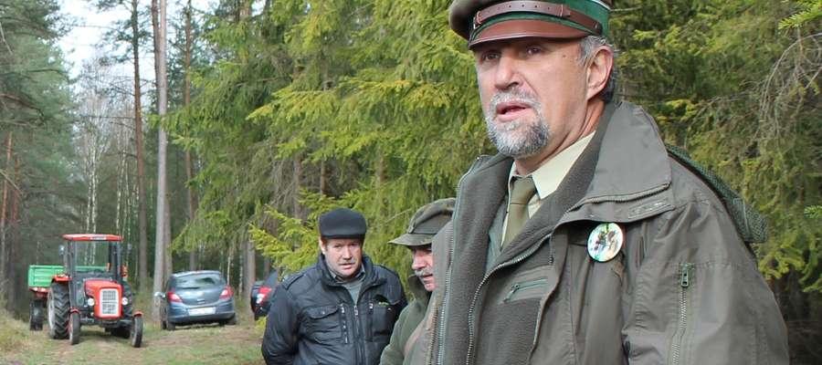 Szef Nadleśnictwa Pułtusk Roman Jankowski