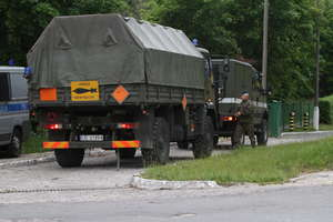 Ewakuacja mieszkańców Barczewa. W akcję będą zaangażowani strażacy, policjanci oraz Wojska Obrony Terytorialnej