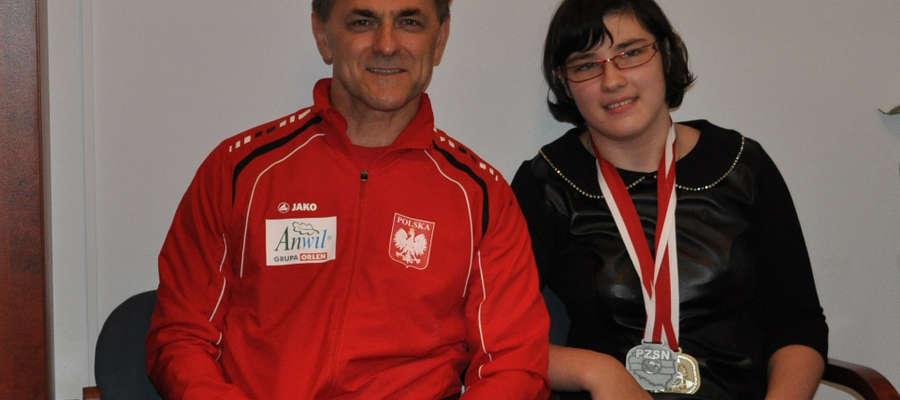 Ania Kubaszewska z trenerem Ireneuszem Pepłowskim