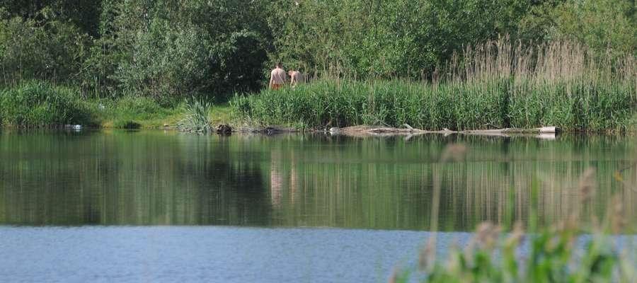 Dzikie kąpielisko przy ul. Mazurskiej