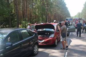 Pięć samochodów zderzyło się w drodze do Pisza