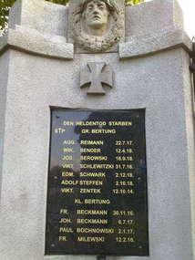 Pomnik poległych w czasie I wojny światowej w Bartągu