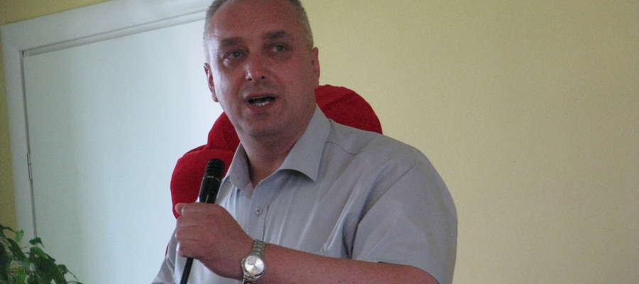 Wiceburmistrz Grzegorz Napiórkowski podczas sesji