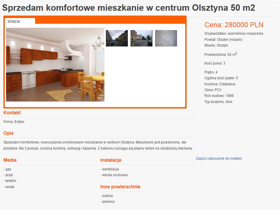 ogłoszenie dom.wm.pl