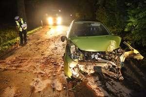 Groźny wypadek na DK 51. W Olsztynie auto w rowie
