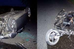 Śmiertelny wypadek w Hucie Wielkiej. Zginął kierowca skutera