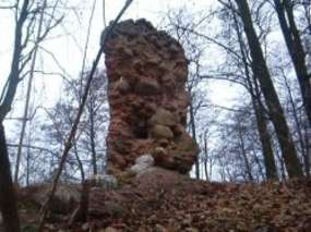 Ruiny kościoła z początków XV w. w Szczuplinach