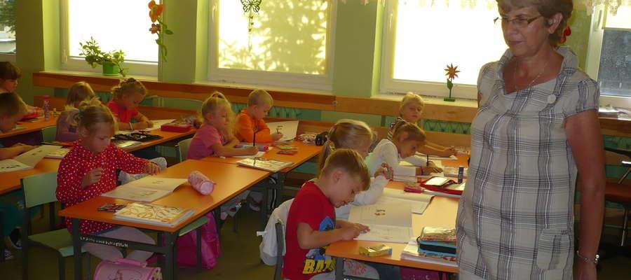Wychowawczyni Ewa Karcz chwali klasę I g, składającą się z samych 6 - latków