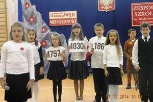 Niepodległościowa akademia w szkole w Kurzętniku