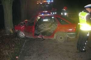 Pijany 25-latek uderzył w drzewo