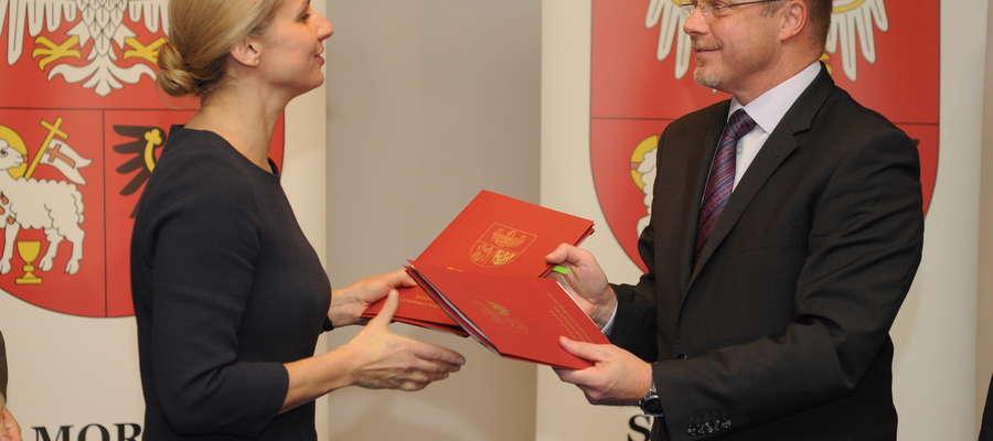 Minister Dorota Pyć i marszałek województwa Jacek Protas