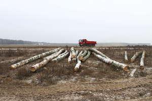 Tragedia podczas załadunku drewna. Nie żyje mężczyzna