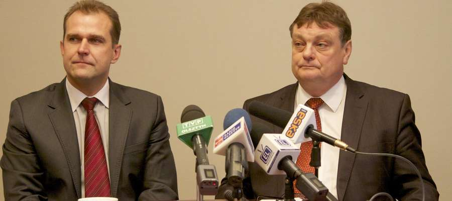 Od lewej: wiceprezydent Bogusław Milusz i prezydent Elbląga Witold Wróblewski