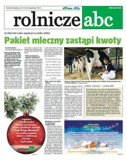 Rolnicze ABC - grudzień 2013