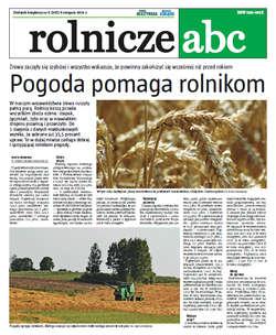 Rolnicze ABC - sierpień 2014