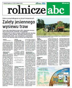 Rolnicze ABC - sierpień 2013