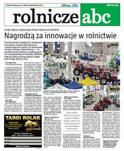 Rolnicze ABC - październik 2014