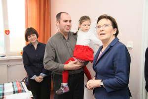 Premier odwiedziła uchodźców z Donbasu