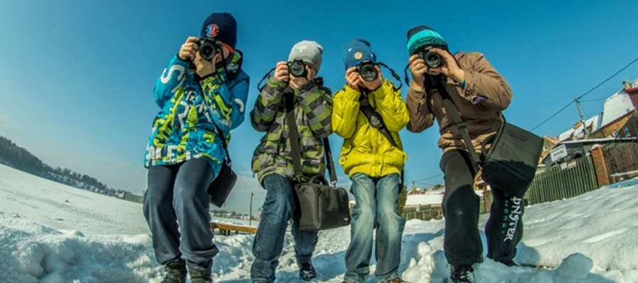 W trakcie ferii w Kłobuku odbyły się między innymi warsztaty fotograficzne