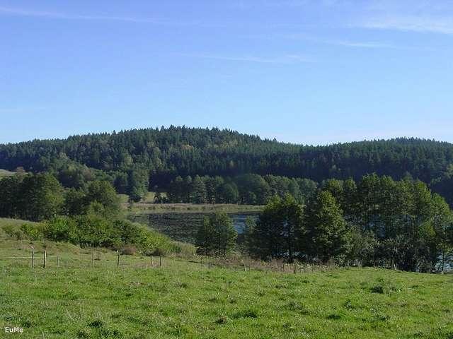 Widok na rezerwat ze wsi Piłaki Wielkie - full image