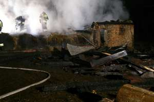 Pożar w miejscowości Samborek