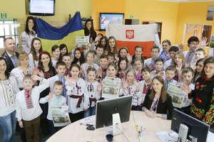 Odwiedziny dzieci z zachodniej Ukrainy w redakcji Gazety Olsztyńskiej