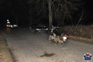 Motocyklista zderzył się z volvo
